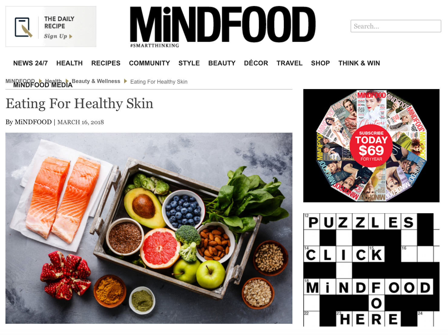 MiNDFOOD - Eating for Healthy Skin with Abbie
