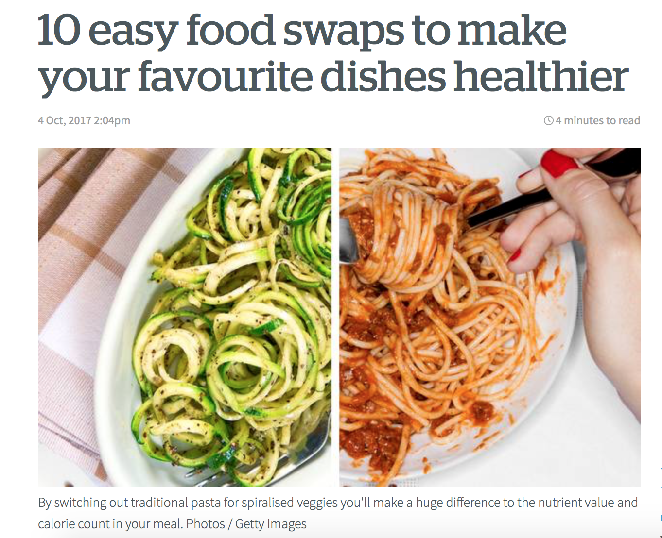 NZ Herald - Healthy Food Swaps with Danijela