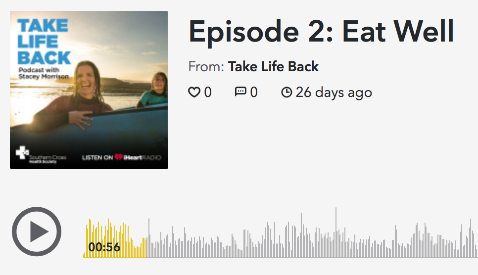 Take Life Back podcast by Southern Cross Health featuring Abbie