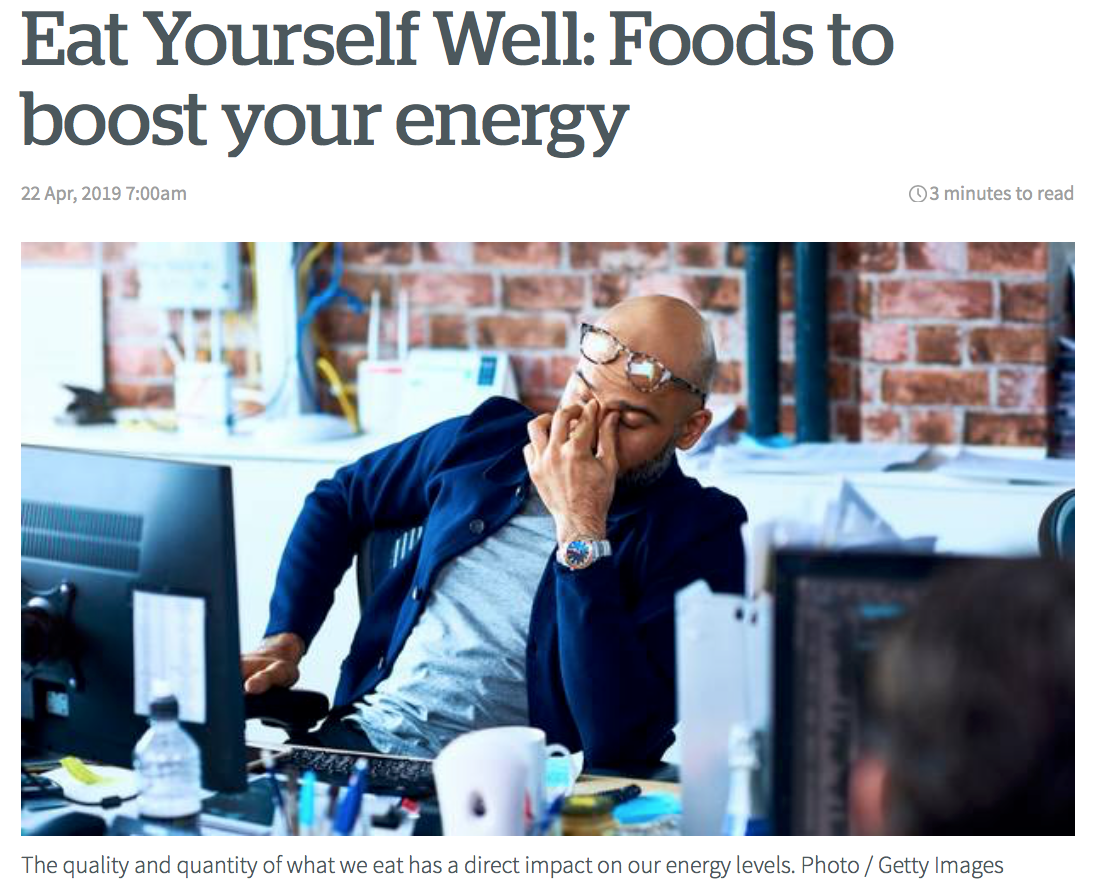NZ Herald - Eating for Energy with Danijela