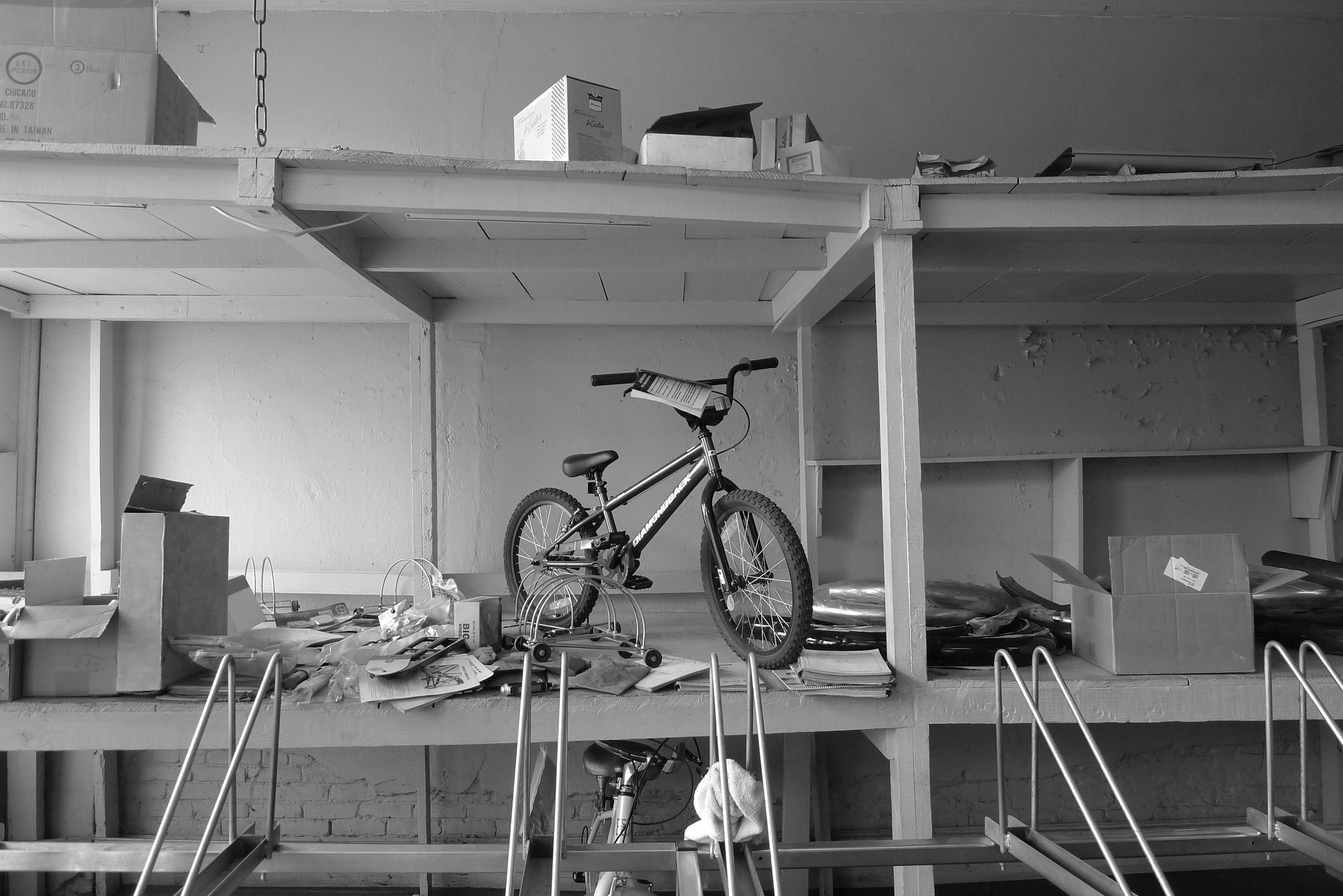 Bike on Shelf, Augusta, GA 2014