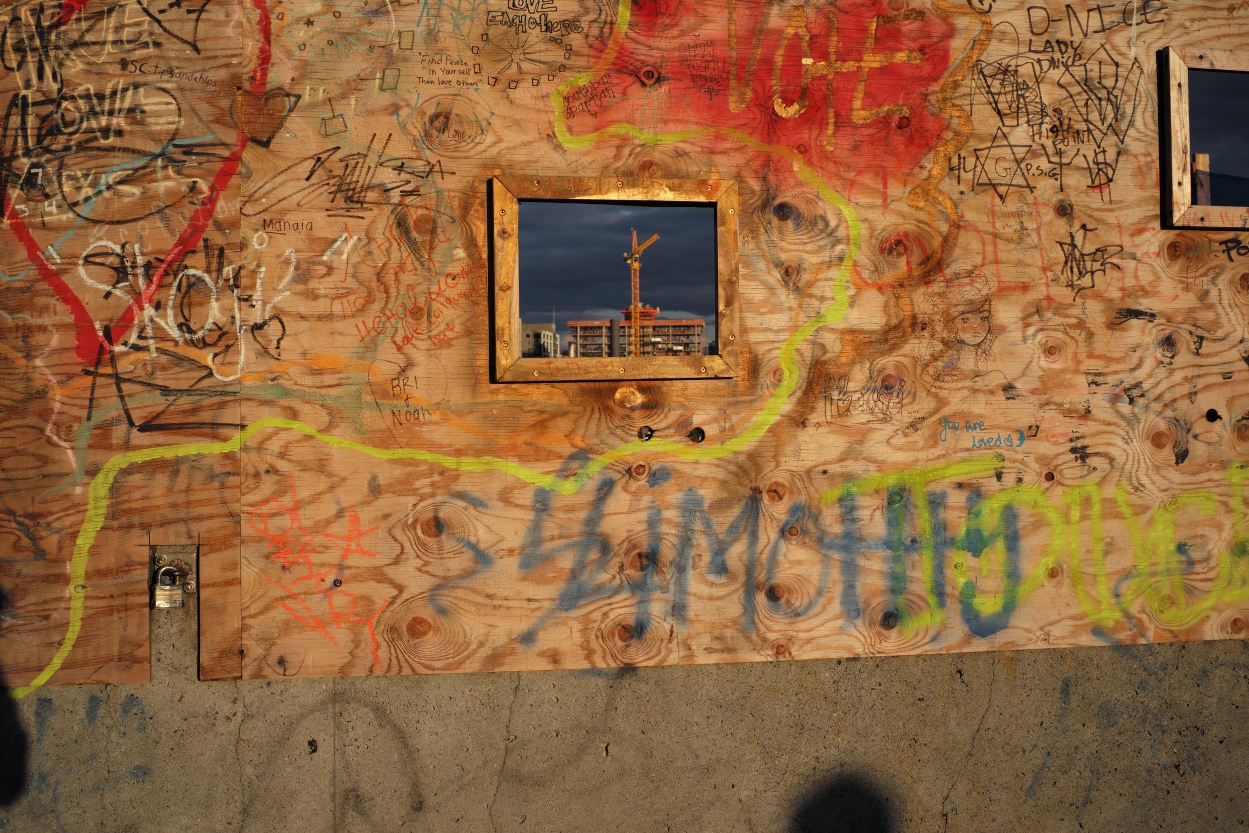 Plywood Grafitti, Seattle, WA 2016
