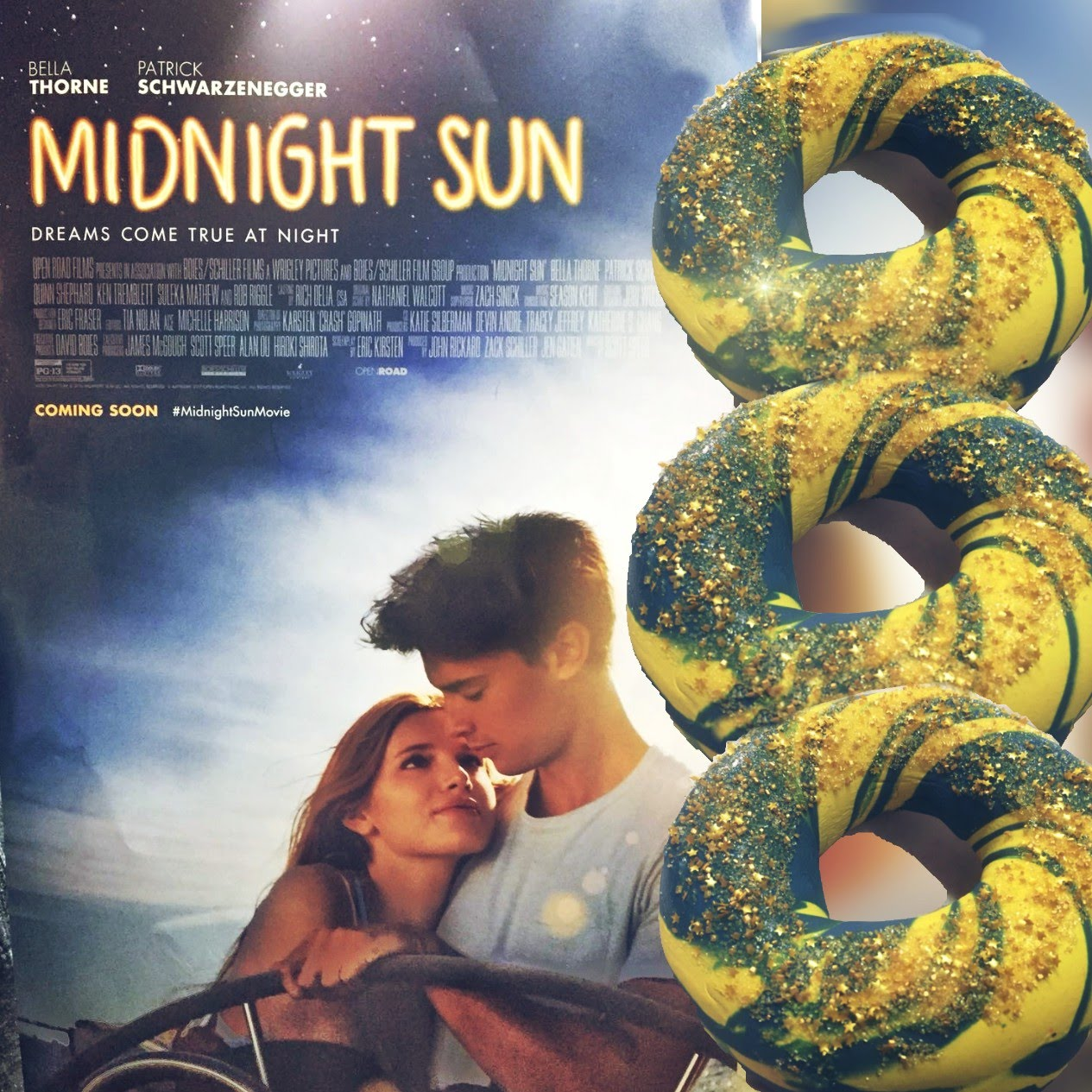midnight sun movie custom bagel art
