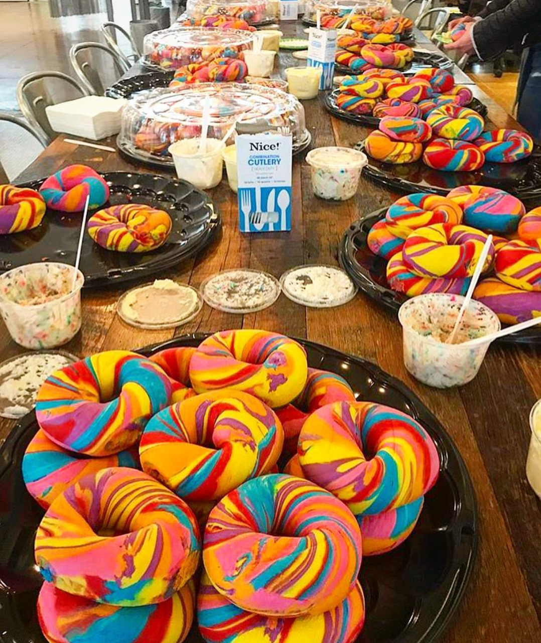original rainbow bagel
