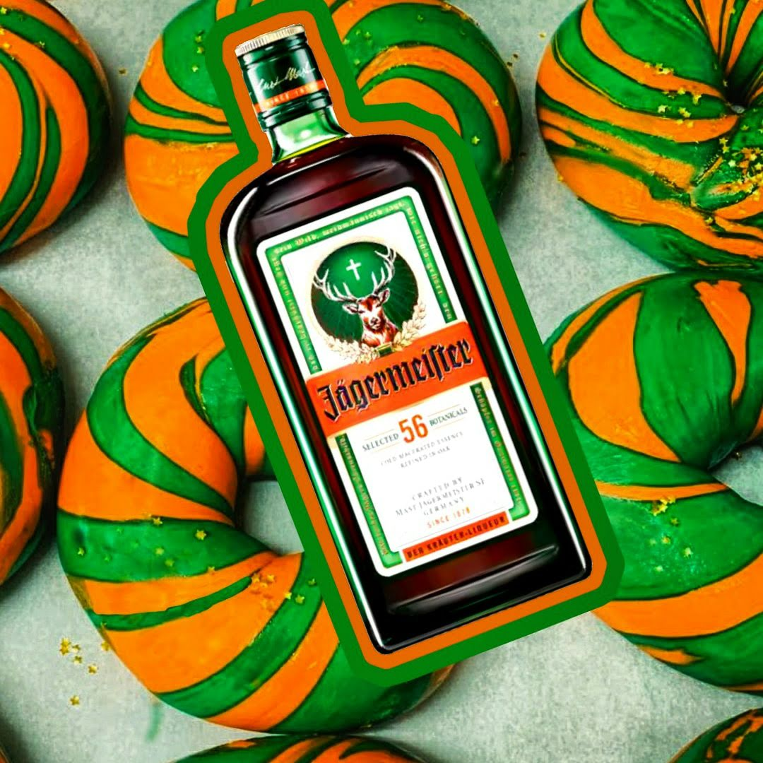 jagermeister alcohol bagel design