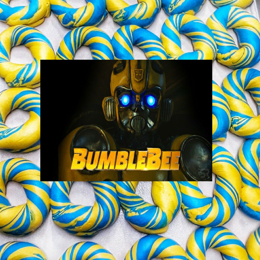 bumble bee transformer movie bagel design