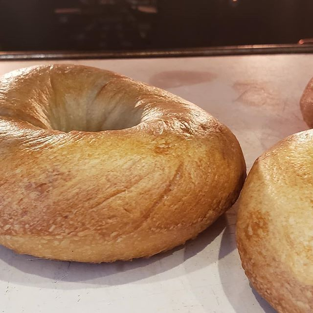 "At Home Old School ""Real Bagel"" making classes, it is far more satisfying for me to teach people the right way to make bagels along with the history and science behind what really makes a great bagel. #MakeBagelsGreatAgain 🥯✌"