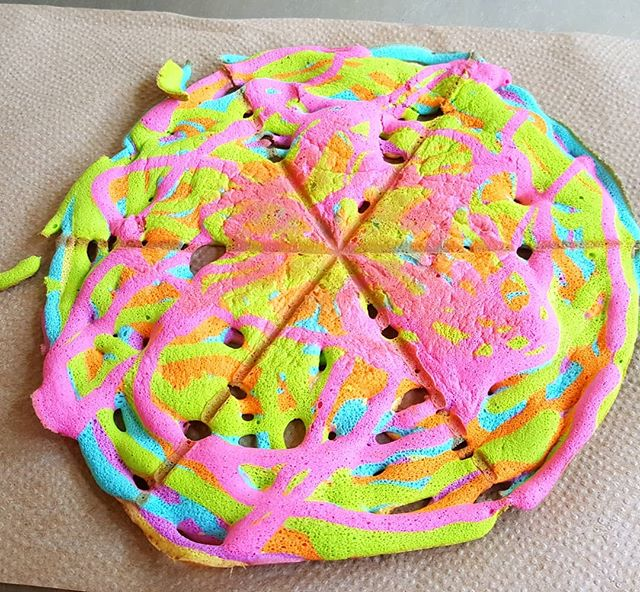 Attempting Baked Rainbow Funnel Cake Design it is really fun to look at * If you ever tried this and have photos share your photos with me I would love to see your work ✌
