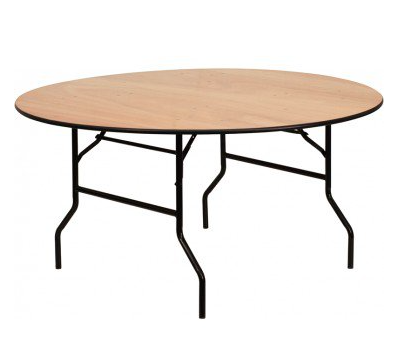 """60"""" ROUND WOOD TABLE $10"""