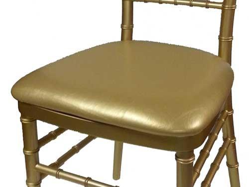 Gold Vinyl Chiavari Cushion $2.00
