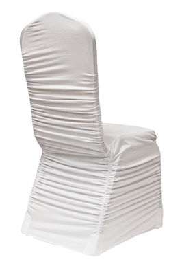 White Ruched Chair Cover $5.00