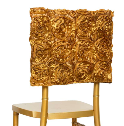 Gold Rosette Chair Cap $3.00