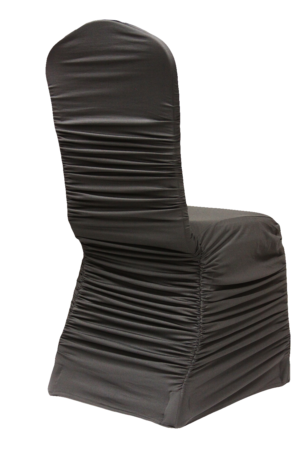 Black Ruched Chair Cover $5