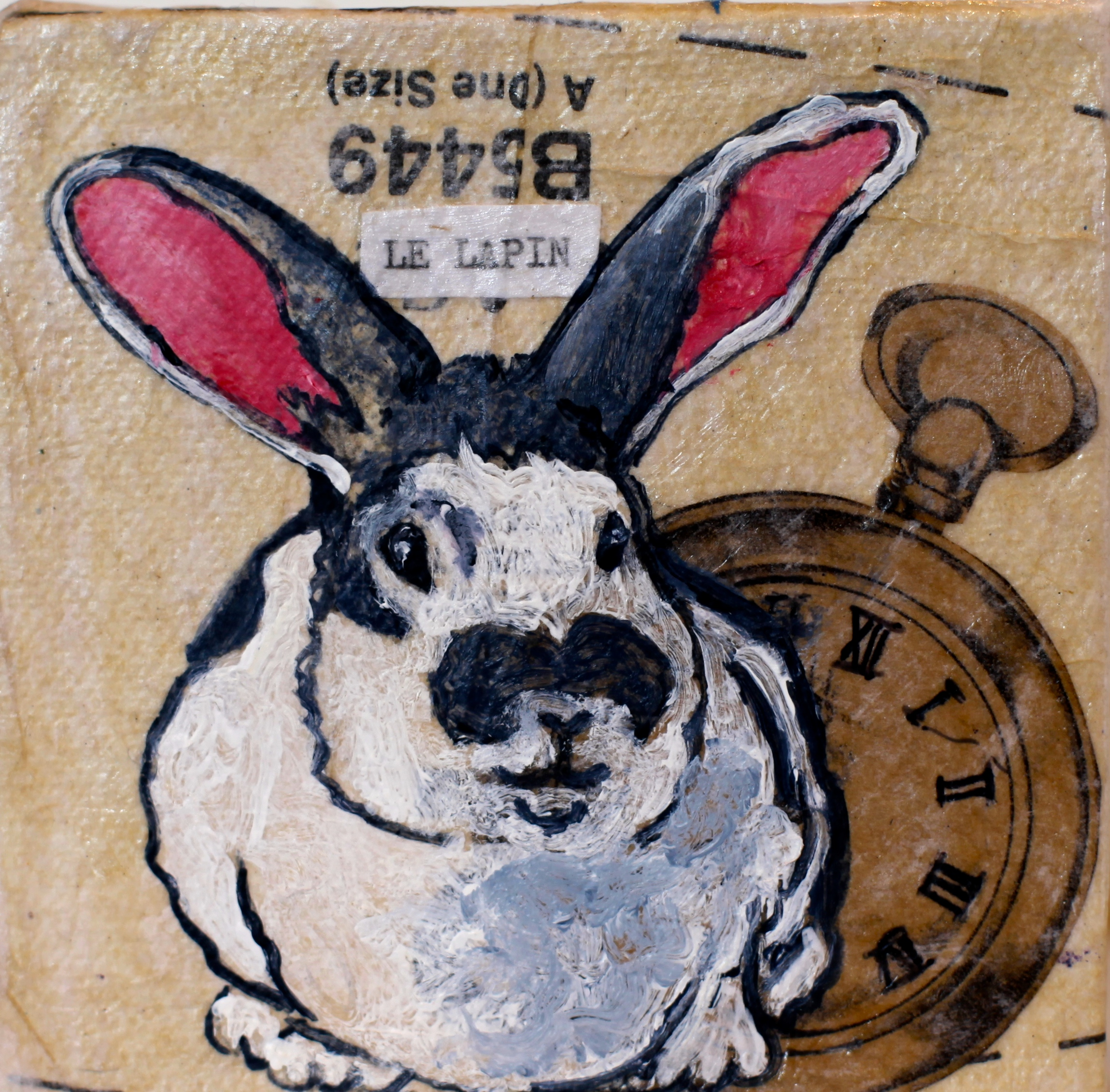 """Le Lapin"" Acrylic on Canvas"