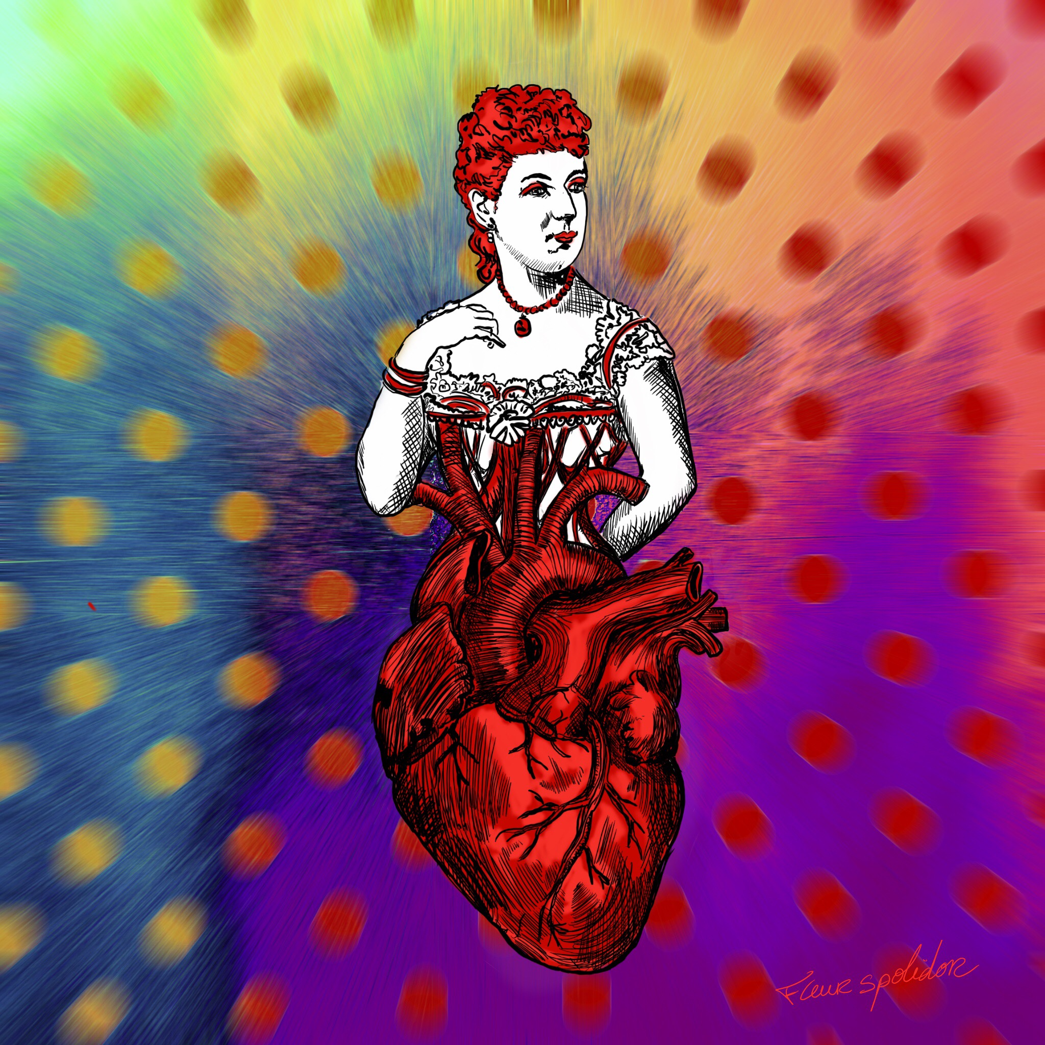 """Queen of Heart"" digital painting Limited Edition 1/12"