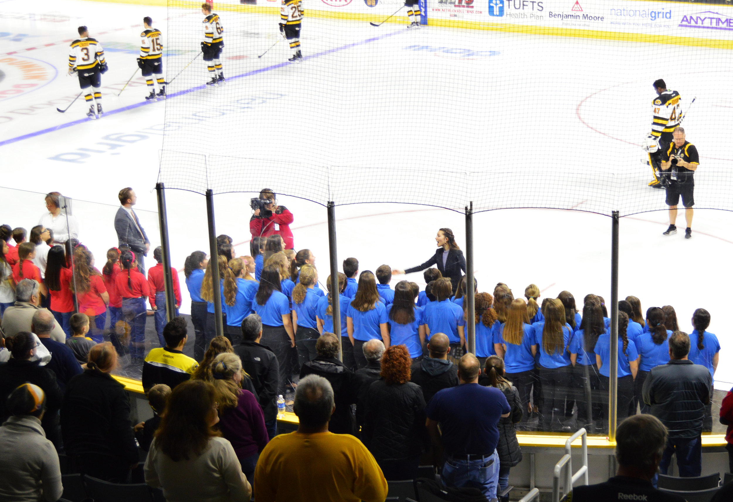 Middle School 6-8 Chorus at Providence Bruins