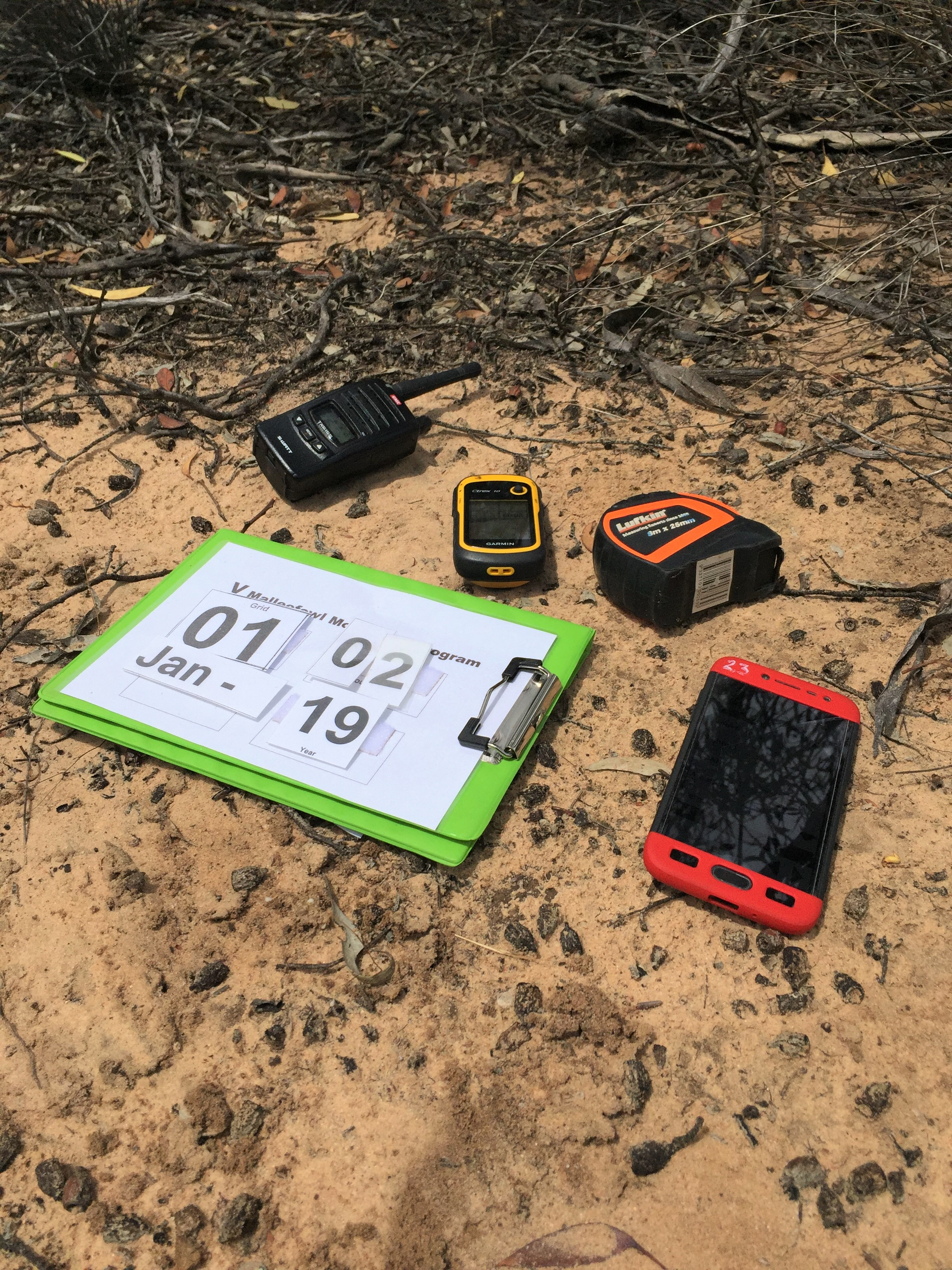 No datasheets here! The modern toolkit for these citizen scientists includes a GPS and an android phone with a customised app called CyberTracker. It makes monitoring a breeze!