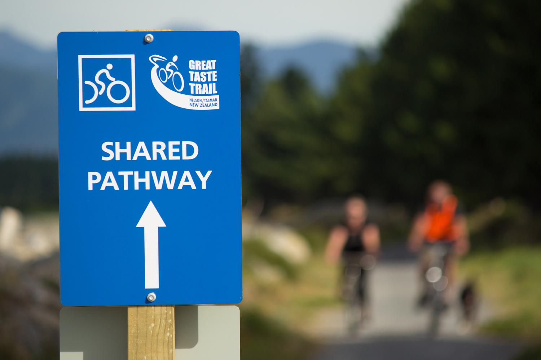 Tasman Great Taste Cycle Trail - kilometres of safe cycling