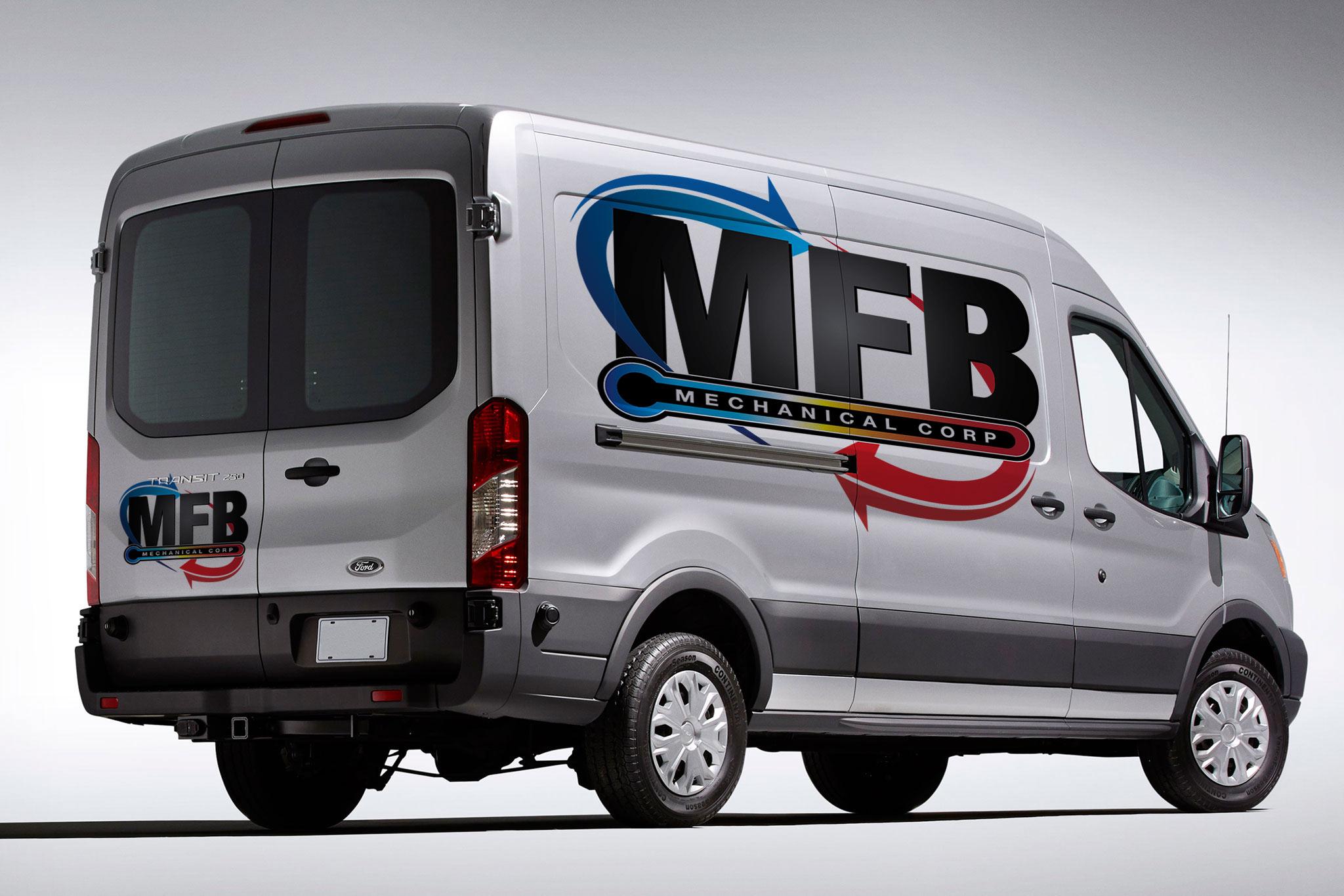 MFB Mechanical Corp Van Mockup.