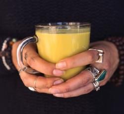 Turmeric latte or Golden Latte