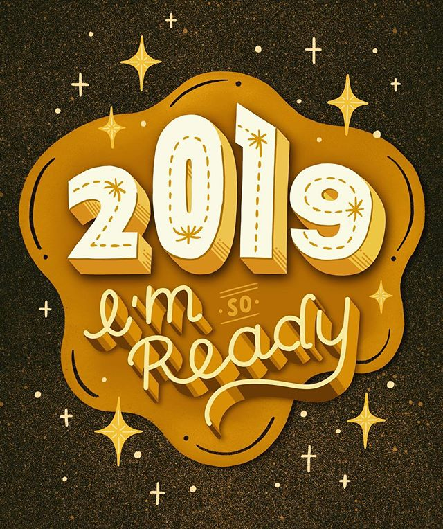 Are you ready? Happy 2019 and wish all your New Year's dreams come true!✨🎊✨