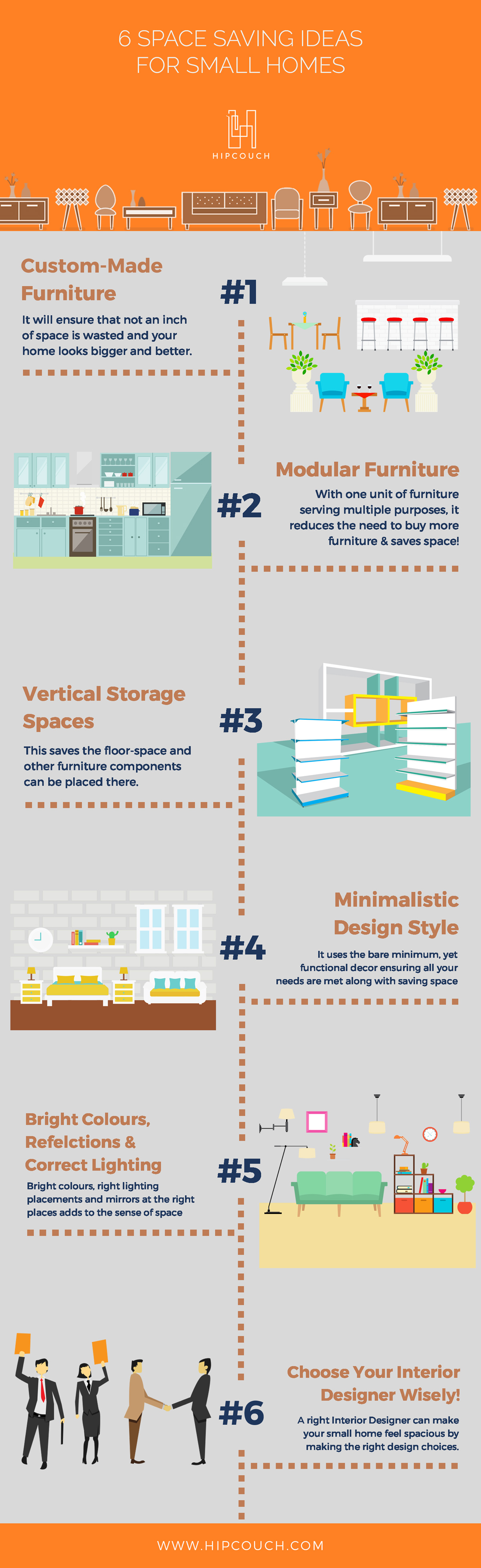 6 Space Saving Ideas for your small home / office