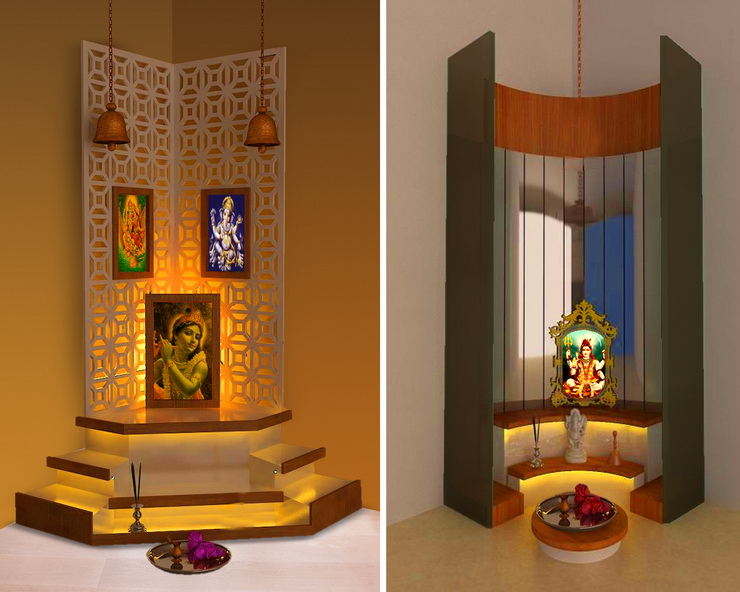 5 Divine Pooja Room Designs For Small Homes Hipcouch Complete Interiors Furniture