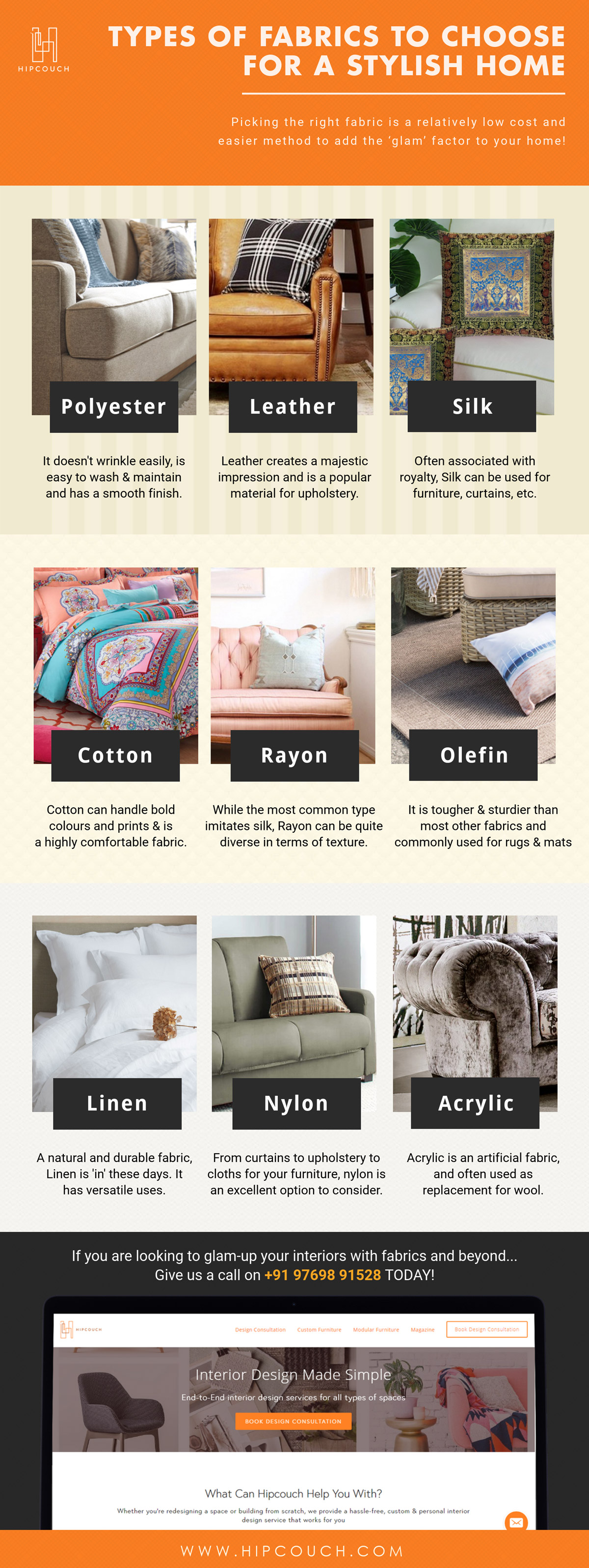 Touch It To Believe It Types Of Fabrics For A Stylish Home Hipcouch Complete Interiors Furniture