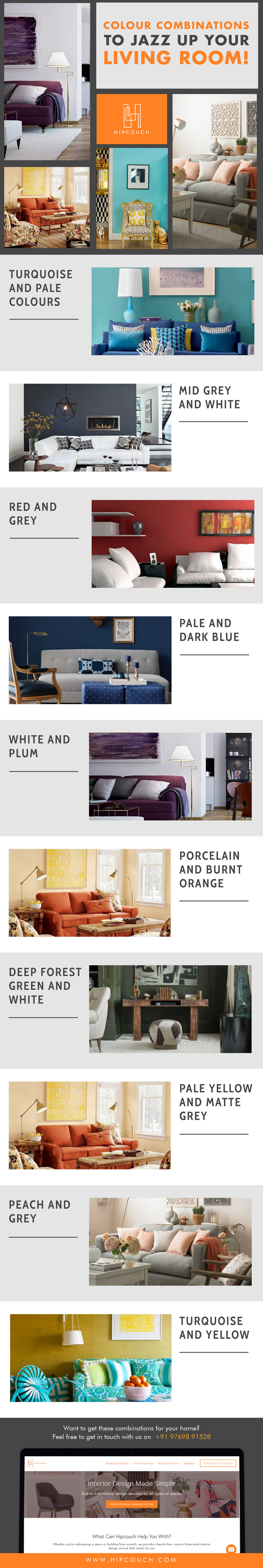 Best Colour Combinations To Jazz Up Your Living Room