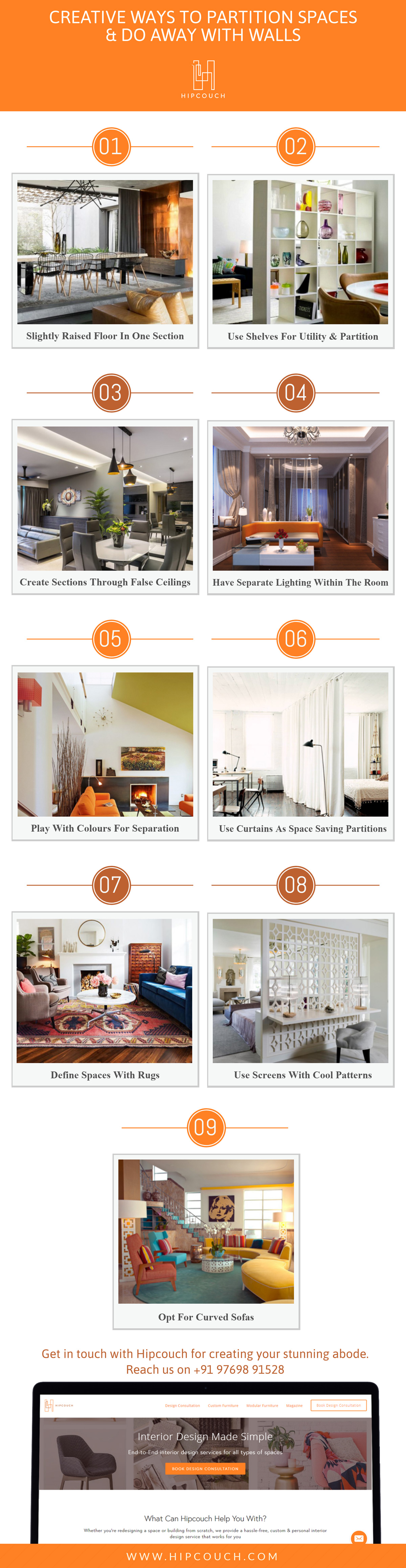 Doing Away With Walls: Creative Ways to Partition Spaces
