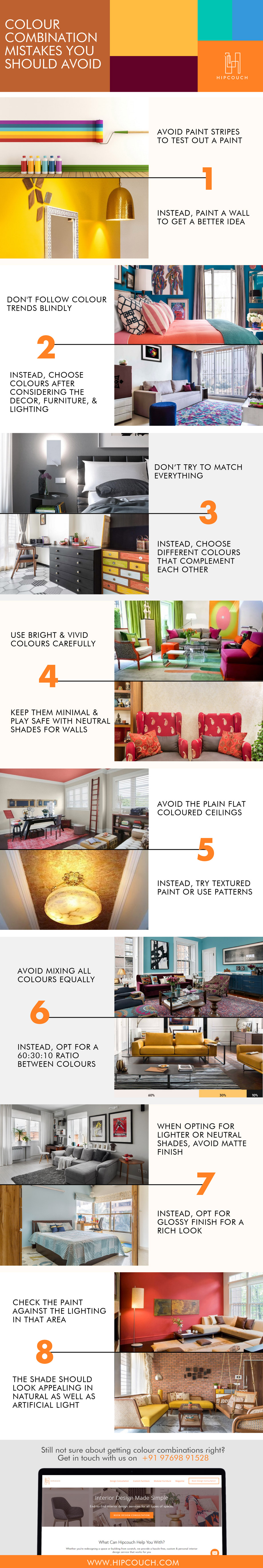 Colour Combination Mistakes That You Should Avoid!