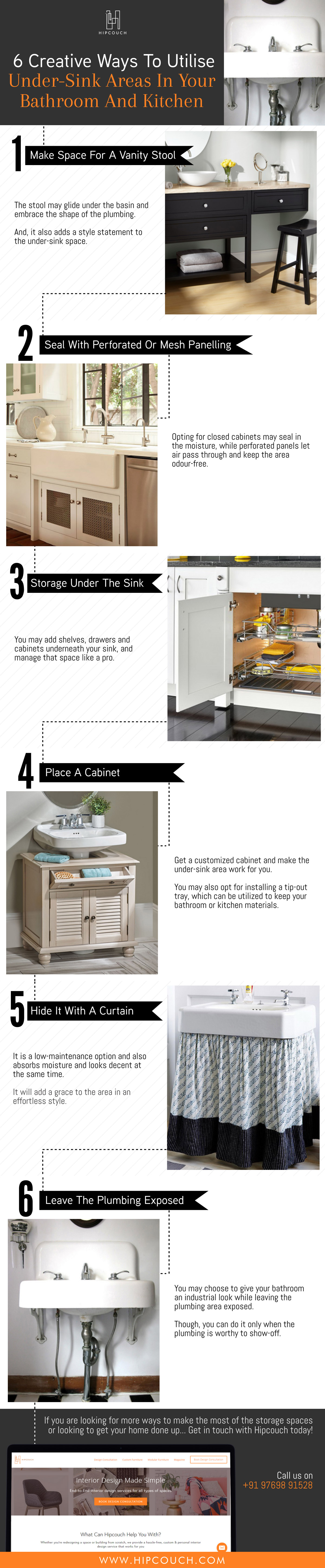 Creative Ways To Utilise The Under-Sink Areas In Your Bathroom And Kitchen