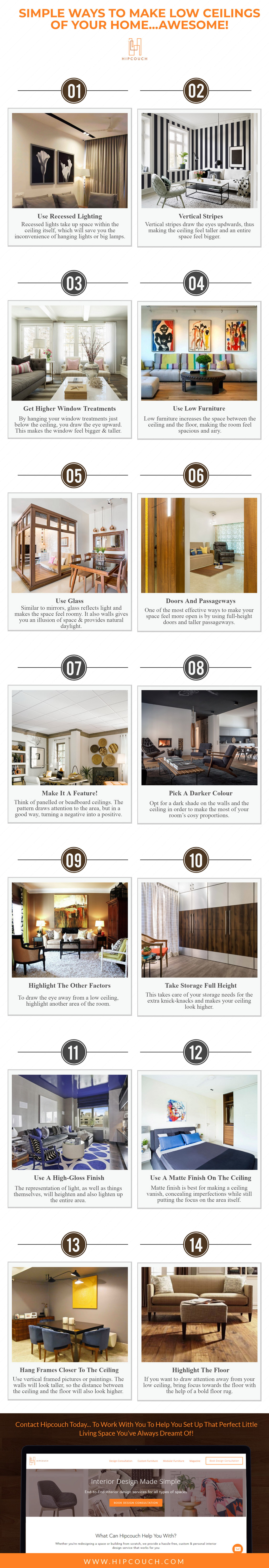 Simple Ways To Make Low Ceilings of Your Home…Awesome!