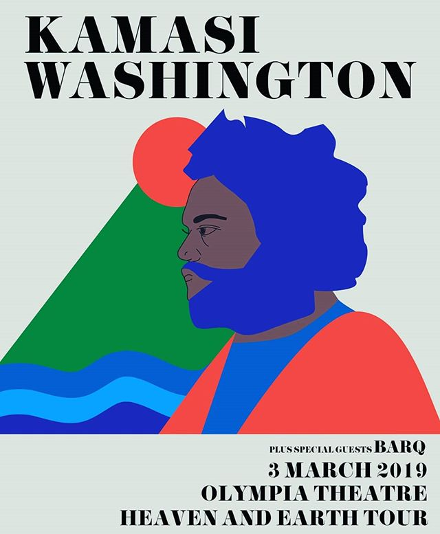 We're supporting @kamasiwashington this Sunday 😮😮😮 This is such an honour and cannot wait, it's gonna be 🔥🔥