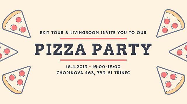 Dneska máme #trashtag Pizza Party! Jídlo zajišťuje @livingroom.trinec a @exittour! 16:00 - 18:00 - uvidíme se tam!