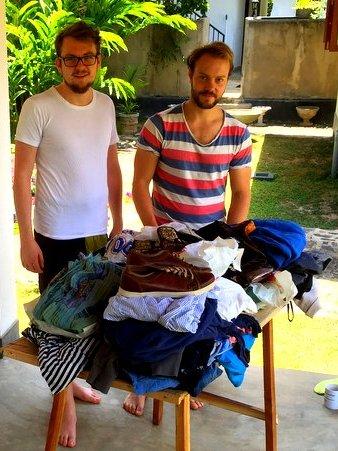 Clote_donations_to_NewUse_second_hand_shop_Hikkaduwa