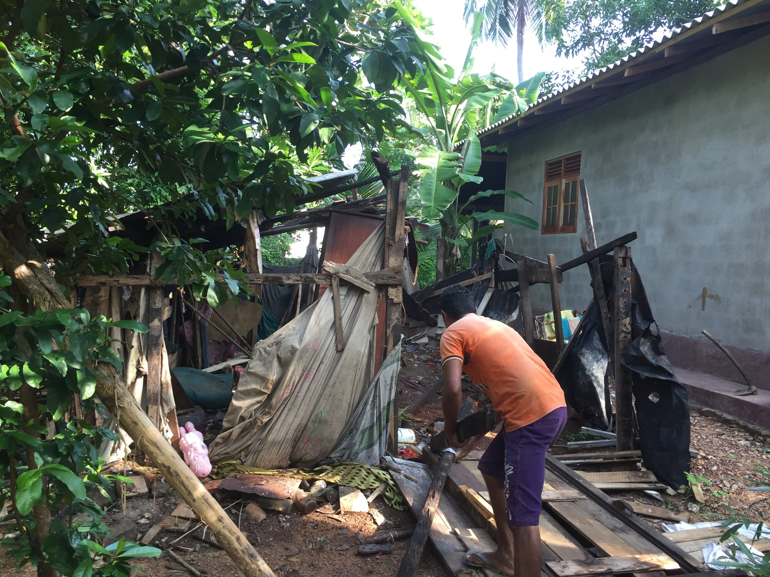 Ramanis_old_shack_torne_down_NewUse