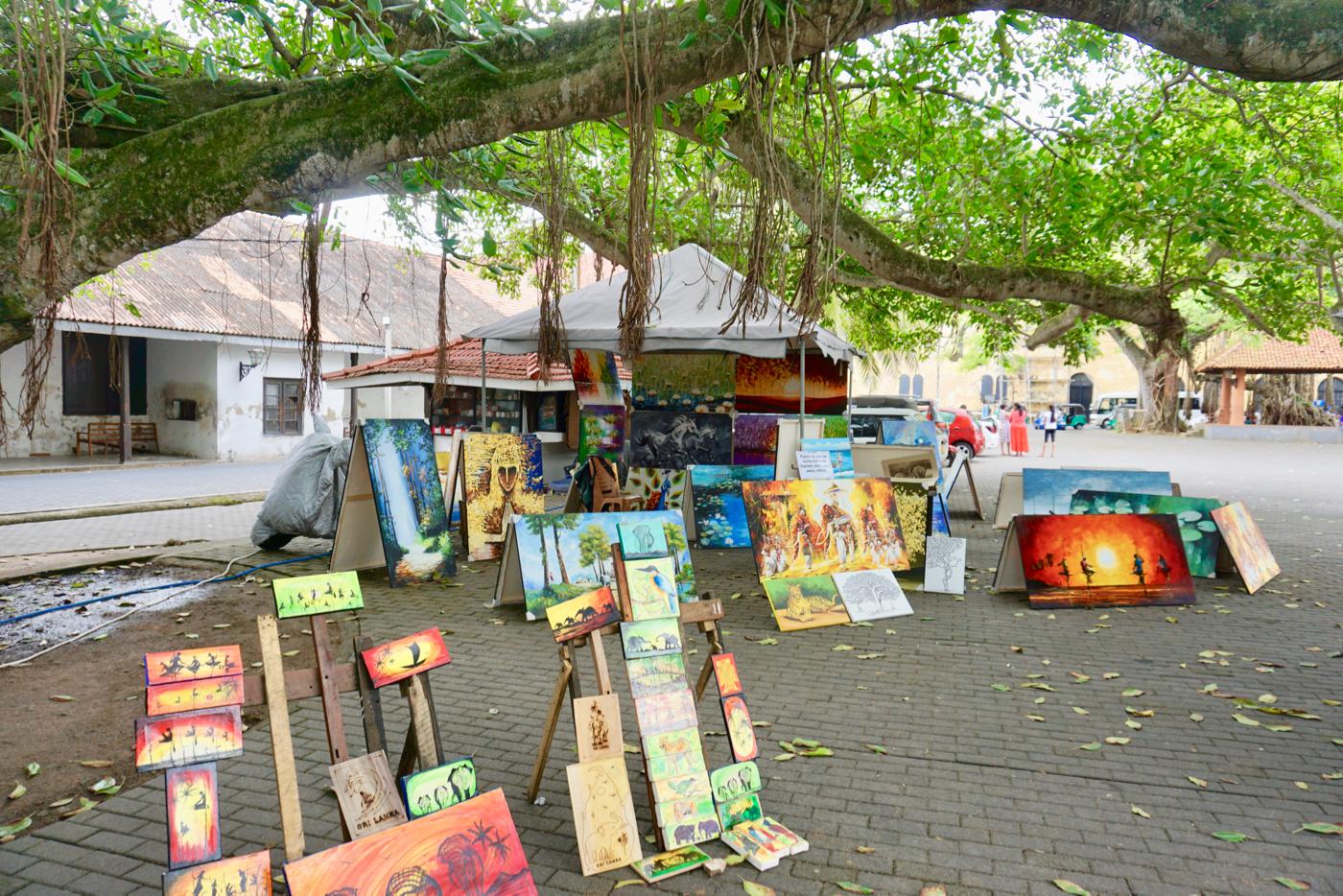 Galle Fort Market paintings.jpg