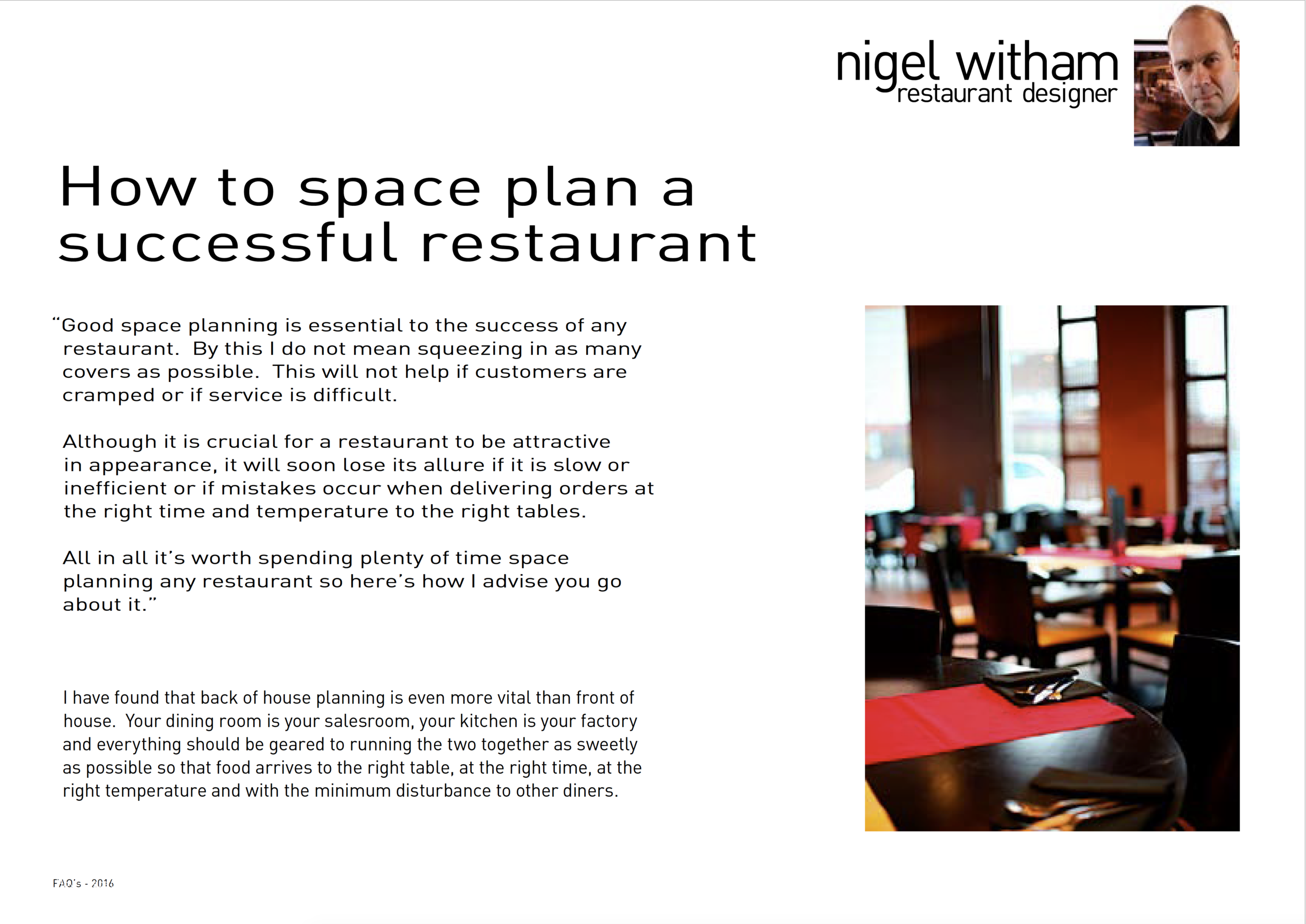 How To Space Plan a Successful Restaurant