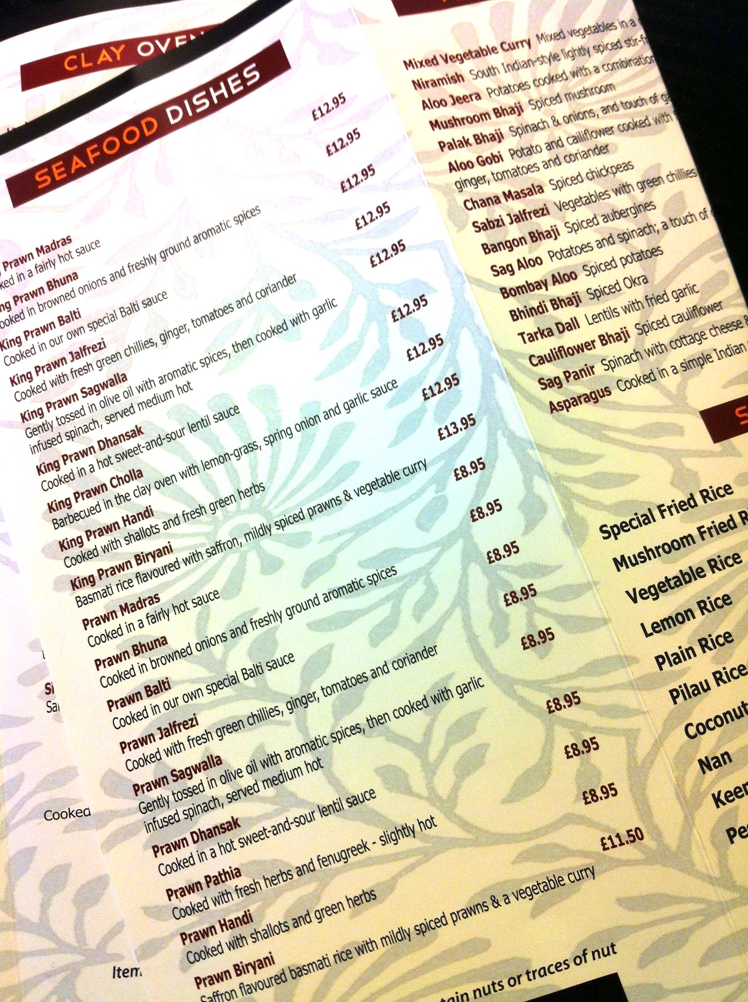 18 Prawn Dishes In One Section of One Menu