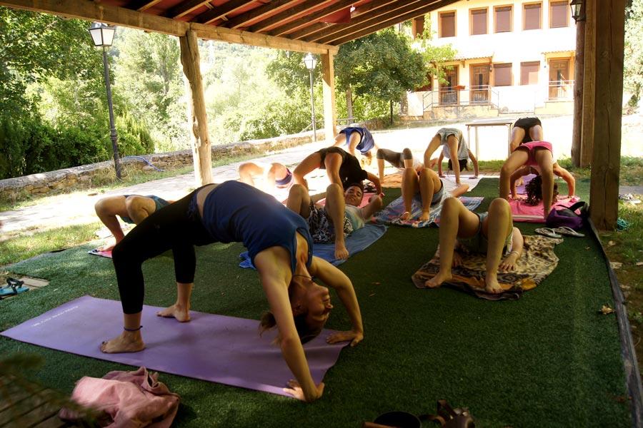 Campamento de hipica en España