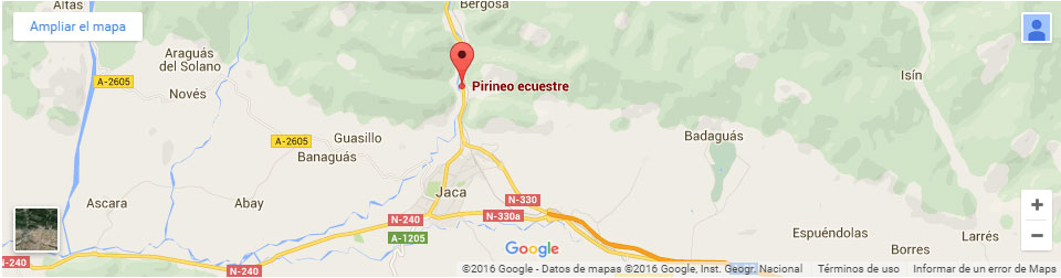 mapa pirineo ecuestre