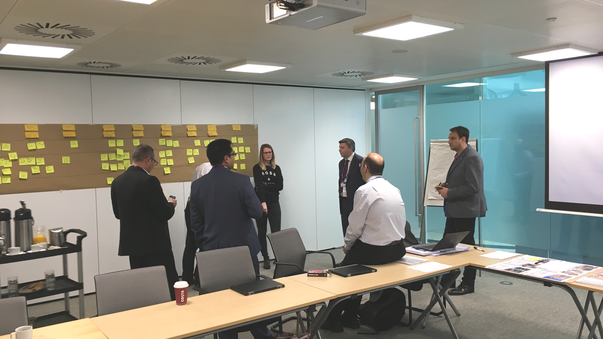 Customer journey workshop together with the client