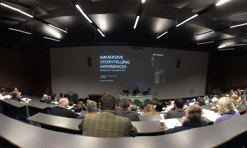 Immersive Storytelling Experiences Research Symposium. Image credit – Liverpool Screen School