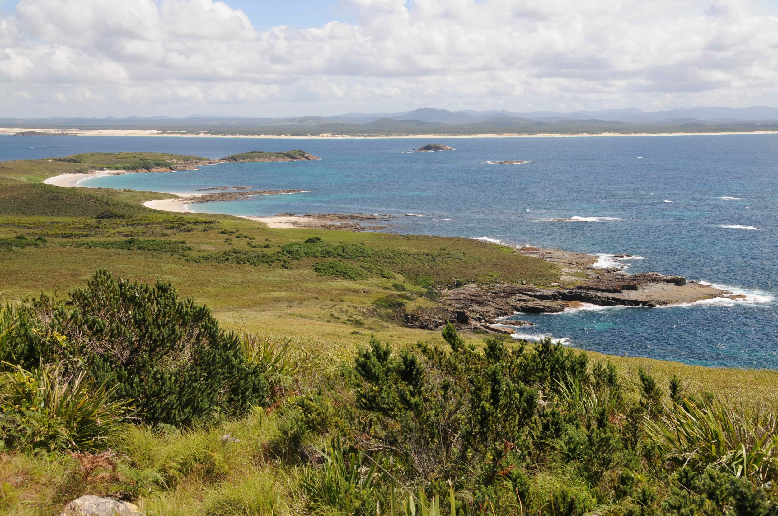 Frog research: West across Broughton Island to mainland