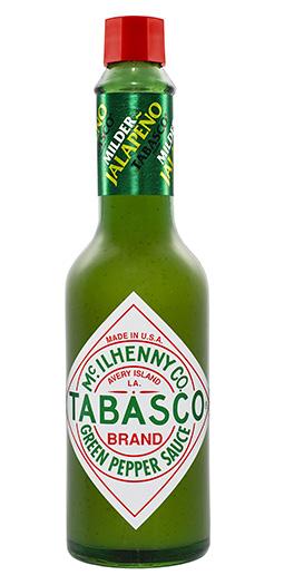 TABASCO® Green -kastike - TABASCO® Green -kastike tuo loistavan hapokkaan maun. Se on valmistettu miedoista jalapenopaprikoista, suolasta ja viinietikasta.Vaikka se onkin tulisuusskaalalla miedompaa kuin perinteinen TABASCO®-kastike, se antaa persoonallista makua erilaisiin annoksiin ja resepteihin.SUOSITELTU KÄYTTÖ:TABASCO® Green-kastike rikastuttaa eri annoksia vaivatta ilman, että tarvitsee itse pilkkoa ja putsata jalapenoja.Sen maku on perustana meksikolaisissa ruuissa ja sitä voi käyttää mainiosti niin mereneläviin, vihanneksiin, kastikkeisiin ja hedelmiin. Muutama tippa antaa myös näpsäkkyyttä margaritoihin ja piña coladaan.TUOTETIEDOT:Viinietikka, jalapenot, vesi, suola, maissijauho, ksantaanikumi ja askorbiinihappo. Pakkauskoko: 57ml ja 150ml
