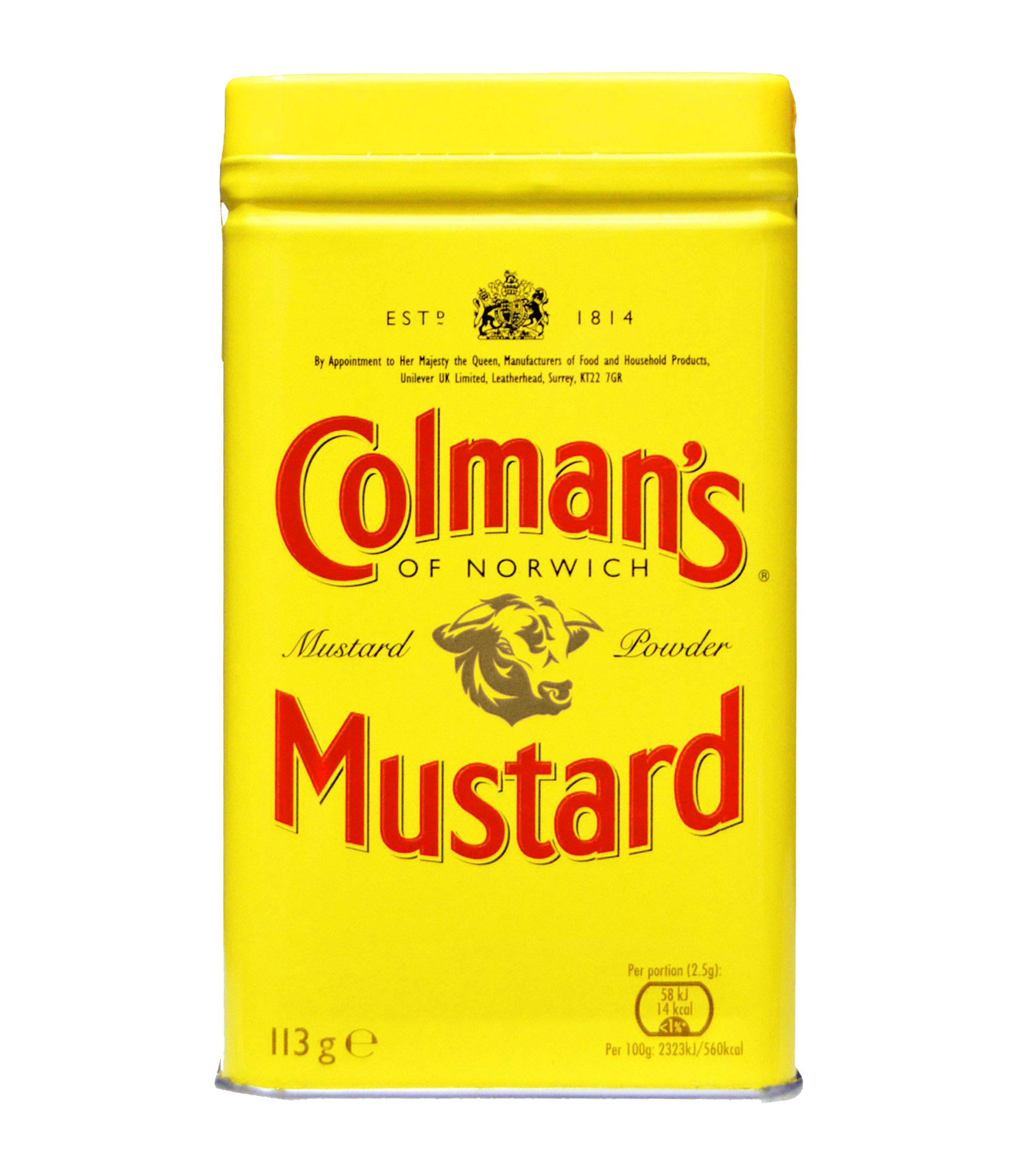 Colman's sinappijauhe - Kehitetty Itä-Englannin Norwichissä. Hienojakoinen vaaleankeltainen jauhe. Tuoksussa heinää, ruohoa ja voimakasta piparjuurta.Käyttökohteet:• kotitekoinen sinappi• kastikkeet• liha-, lintu- tai riistapadat• jauheliharuoat• kastikkeet• rub-mausteseokset• munakokkeli• coleslaw• perunagratiini• juuresgratiiniKotitekoisen sinapin kannattaa antaa tekeytyä muutamia päiviä tai viikkoja, jotta mausta tulee täyteläisempi, pehmeämpi ja kypsempi.