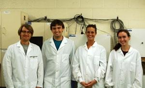 Dr. Bloom, Ryan, Brenna & Caroline trying not to laugh.-2014