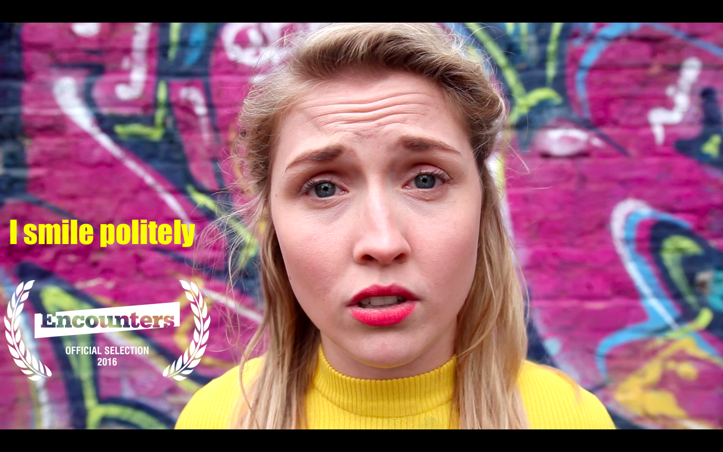 I Smile Politely - 5 minute film about street harassment starring April Hughes. Selected for the Encounters Short Film & Animation Festival 2016