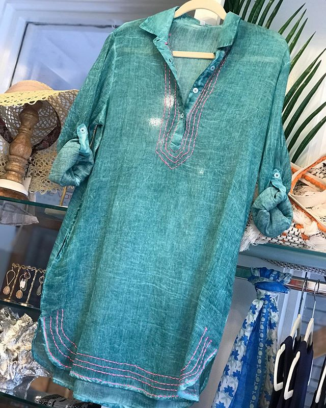 This is the beach coverup I choose for the upcoming season! ❤️ Come shop local today!